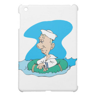funny sailor floating in raft case for the iPad mini