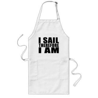 Funny Sailors : I Sail Therefore I Am Long Apron