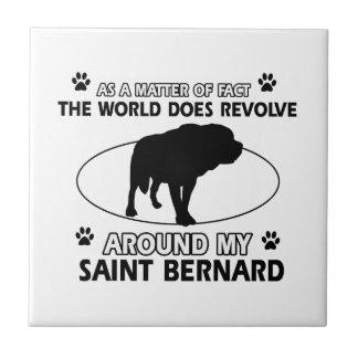 funny SAINT BERNARD designs Ceramic Tile