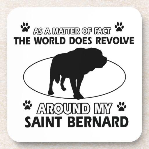 funny SAINT BERNARD designs Coasters
