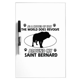 funny SAINT BERNARD designs Dry-Erase Board