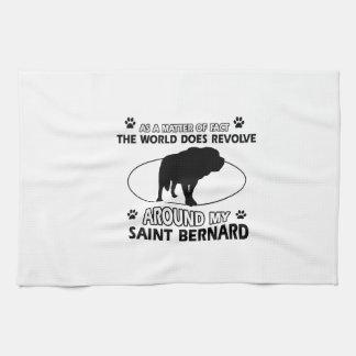 funny SAINT BERNARD designs Hand Towel