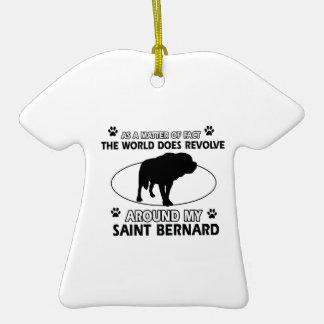 funny SAINT BERNARD designs Ornaments
