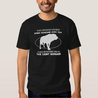 Funny saint bernard designs t shirt