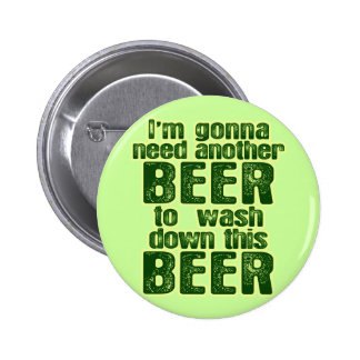 Funny Saint Patrick's Day Beer Buttons