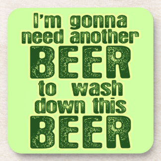 Funny Saint Patrick's Day Beer Drink Coaster