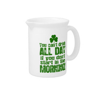 Funny Saint Patrick's Day Beer Drink Pitcher