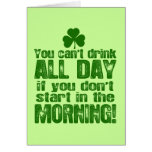Funny Saint Patrick's Day Beer Greeting Cards