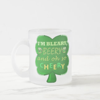 Funny Saint Patrick's Day Beer 10 Oz Frosted Glass Coffee Mug