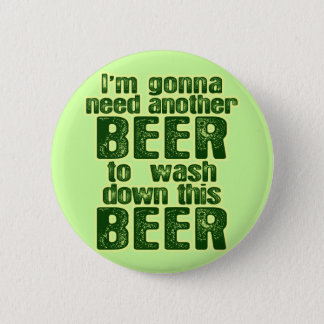 Funny Saint Patrick's Day Beer Pinback Button