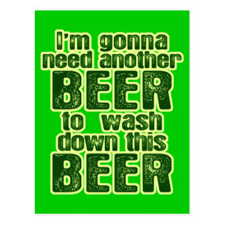 Funny Saint Patrick's Day Beer Postcard