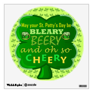Funny Saint Patrick's Day Beer Wall Decal