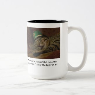 Funny Saint Patrick's Day Cat Coffee Cup Mug