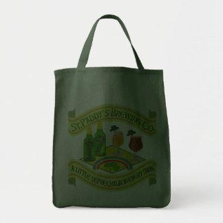 Funny Saint Patrick's Day Leprechaun Brewery Canvas Bag