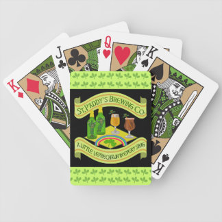 Funny Saint Patrick's Day Leprechaun Brewery Bicycle Playing Cards