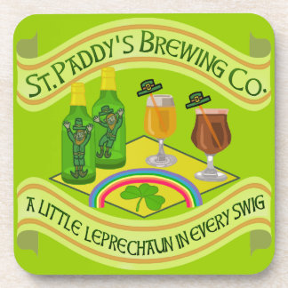 Funny Saint Patrick's Day Leprechaun Brewery Coaster