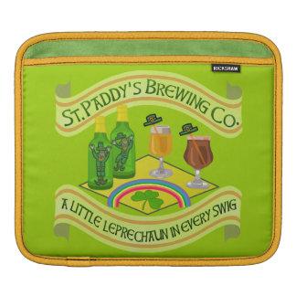 Funny Saint Patrick's Day Leprechaun Brewery iPad Sleeve