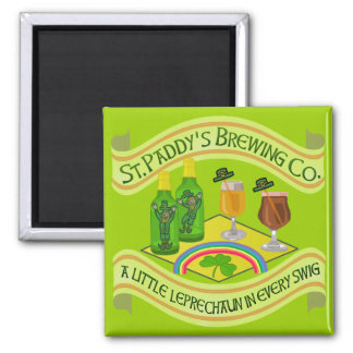Funny Saint Patrick's Day Leprechaun Brewery Refrigerator Magnet