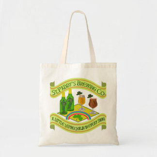 Funny Saint Patrick's Day Leprechaun Brewery Tote Bag