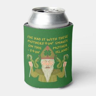 Funny Saint Patrick's Day Snakes Joke Green Irish Can Cooler