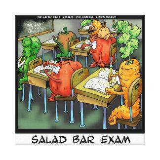 Funny Salad Bar Exam Canvas Print