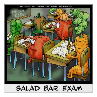 Funny Salad Bar Exam Poster