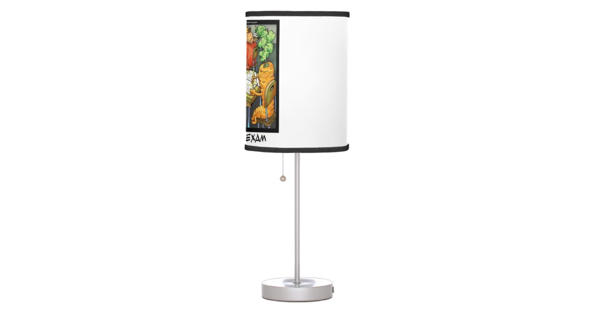 Funny salad bar exam table lamp zazzle for Z bar table lamp
