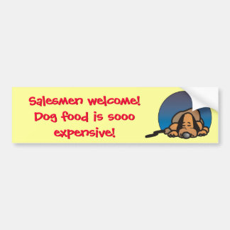 Funny Salesman Welcome fence sticker