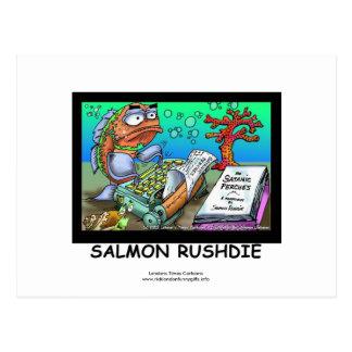 Funny Salman Rushdie Fish Post Cards Set Of 8