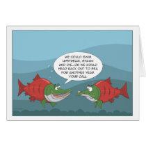 Funny Salmon: Birthday, Anniversary, New Year card