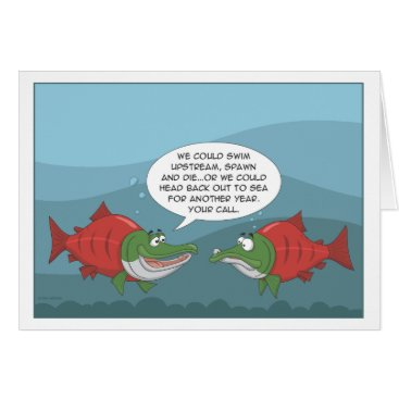 ItchyDogProductions Funny Salmon: Birthday, Anniversary, New Year card