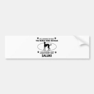 funny SALUKI designs Bumper Sticker