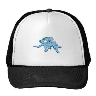 funny saluting octopus trucker hat
