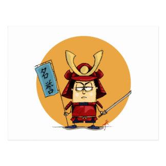 Funny Samurai Warrior Postcard