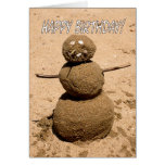 Funny Sand Person - Happy Birthday for Anyone Cards