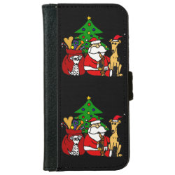 iPhone 6 Wallet Case with Greyhound Phone Cases design