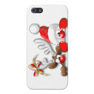 Funny Santa and Reindeer Cartoon iPhone 5C case