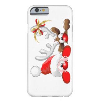 Funny Santa and Reindeer Cartoon iPhone 6 case