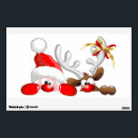 """Funny Santa and Reindeer Cartoon Wall Decal<br><div class=""""desc"""">Christmas Funny Santa and Reindeer Cartoon Characters orignially made on Vector Technique! Cute image for children and for funny and Happy Christmas Holidays!</div>"""