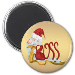 Funny Santa boss Christmas 2 Inch Round Magnet