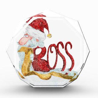 Funny Santa boss Christmas Acrylic Award