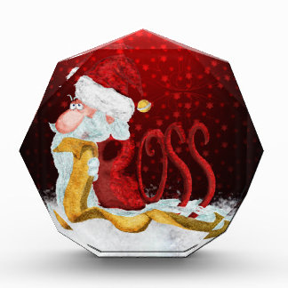 Funny Santa boss Christmas Award