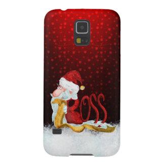 Funny Santa boss Christmas Galaxy S5 Cases