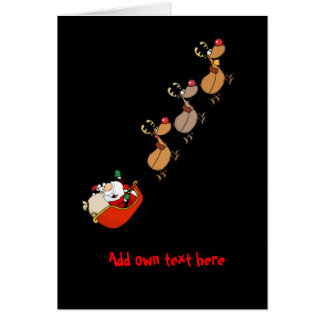 Funny Santa Cartoon Xmas Personalized Greeting Card