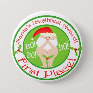 Funny Santa Christmas Button