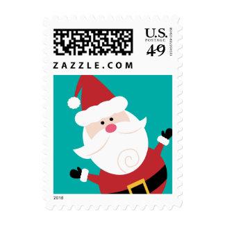 Funny Santa Christmas Custom Postage Stamps