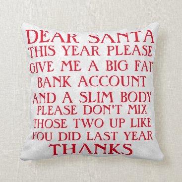 Christmas Themed Funny Santa Christmas Pillow
