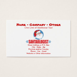 Funny Santa Claus Business Card