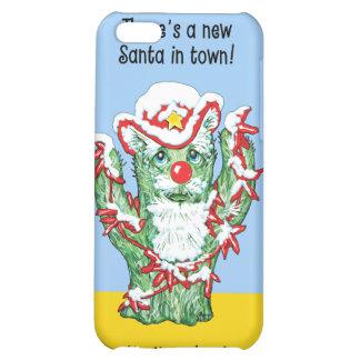 Funny Santa Claus Cactus Christmas Humor iPhone 5C Case