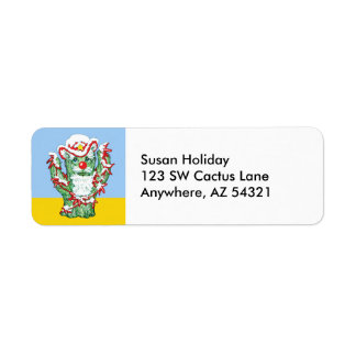 Funny Santa Claus Cactus Christmas Humor Custom Return Address Labels